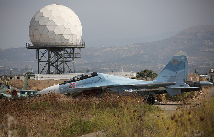 Russia's Sukhoi Su-30SM fighter jet in Syria