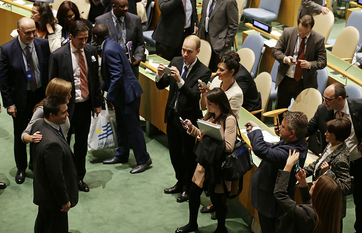 Ukraine Foreign Minister Pavlo Klimkin and United States Ambassador to the United Nations Samantha Power