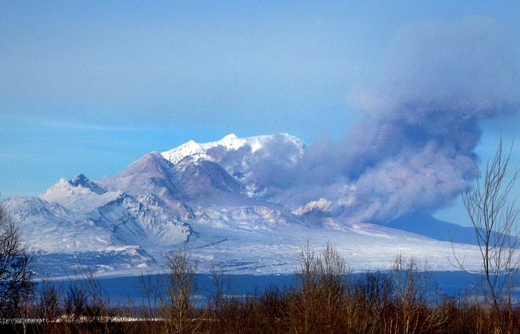 Shiveluch Volcano on Kamchatka Peninsula