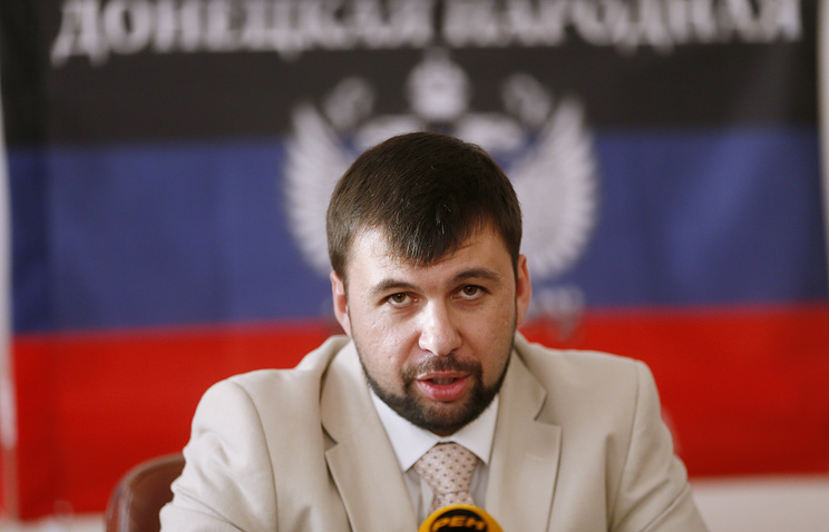 Head of the DPR delegation Denis Pushilin