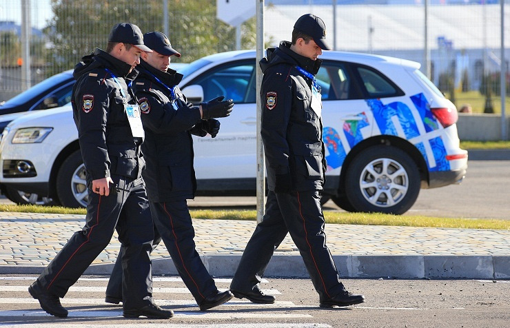Russian police in Sochi