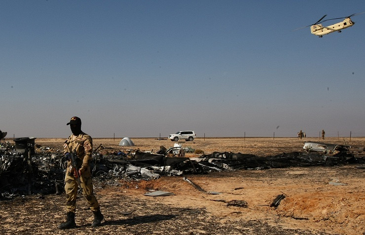 Russian A321 crash site in Sinai