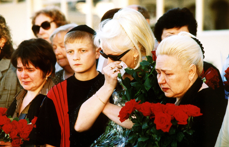 Relatives of the victims of Tu-154 passenger liner shot down in 2001