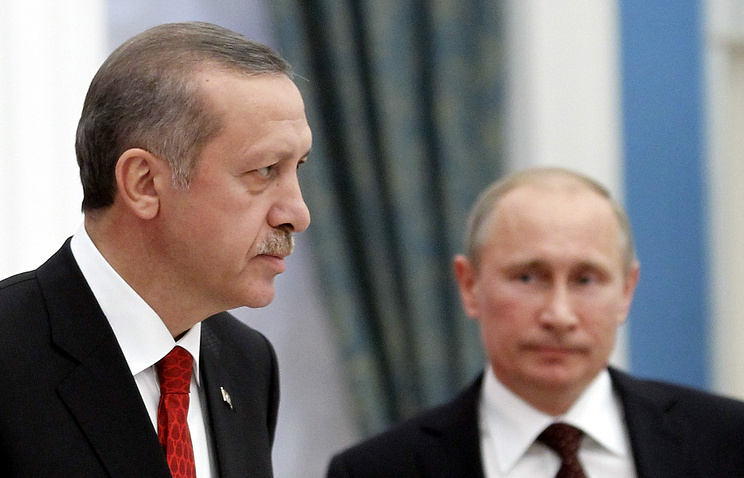 Recept Tayyip Erdogan and Vladimir Putin (archive)