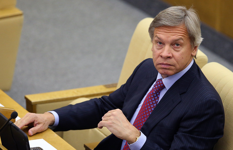 Alexei Pushkov, the Russian State Duma deputy in charge of foreign policy
