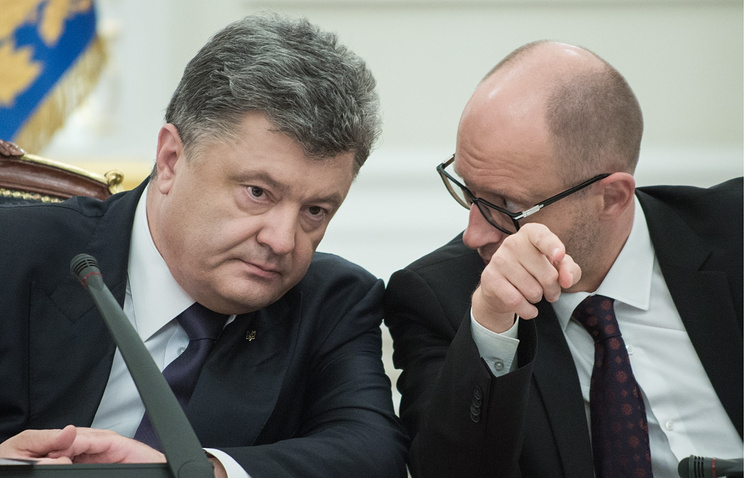 Petro Poroshenko and Arseniy Yatsenyuk