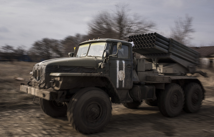 Ukrainian multiple rocket launcher Grad system