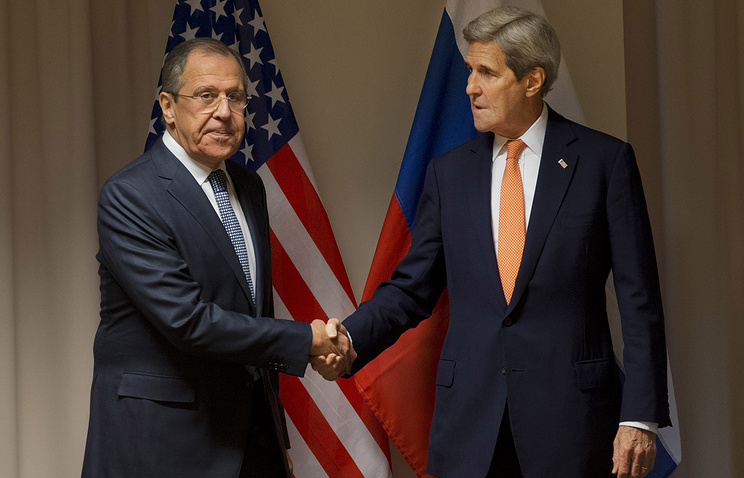 Russian Foreign Minister Sergey Lavrov and US Secretary of State John Kerry