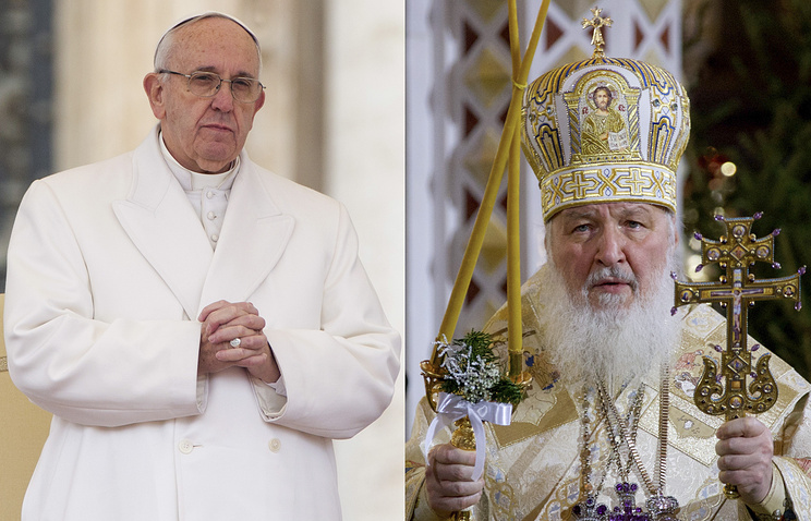 Pope Francis and Russian Orthodox Patriarch Kirill