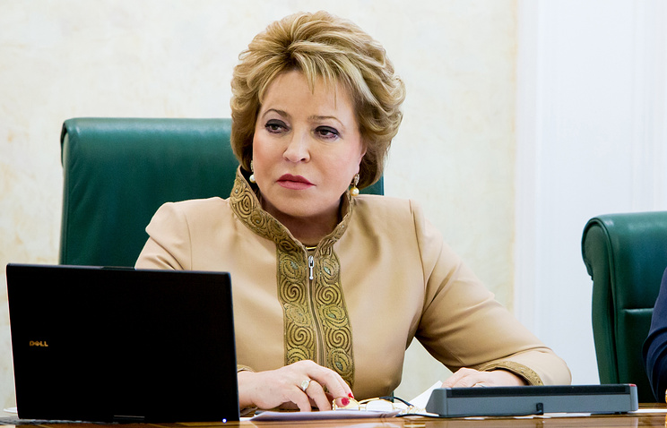 Speaker of Russia's Federation Council Valentina Matviyenko
