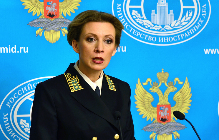 Russian Foreign Ministry's official spokesperson Maria Zakharova