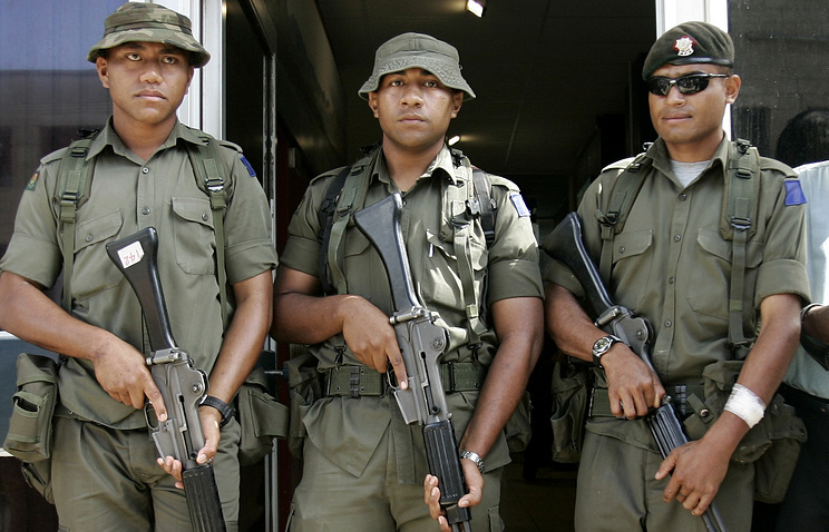 Soldiers in Fiji