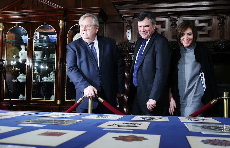 US Ambassador to Russia John Tefft at a ceremony of repatriating to Russia unique historical documents