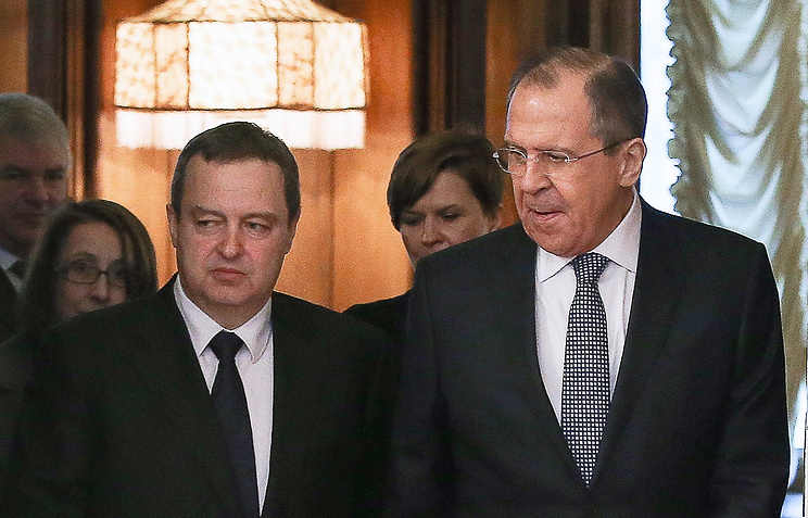 Sergey Lavrov and Ivica Dacic