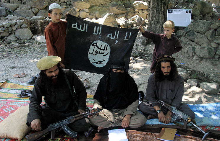 Islamic State militants in Kunar province, Afghanistan