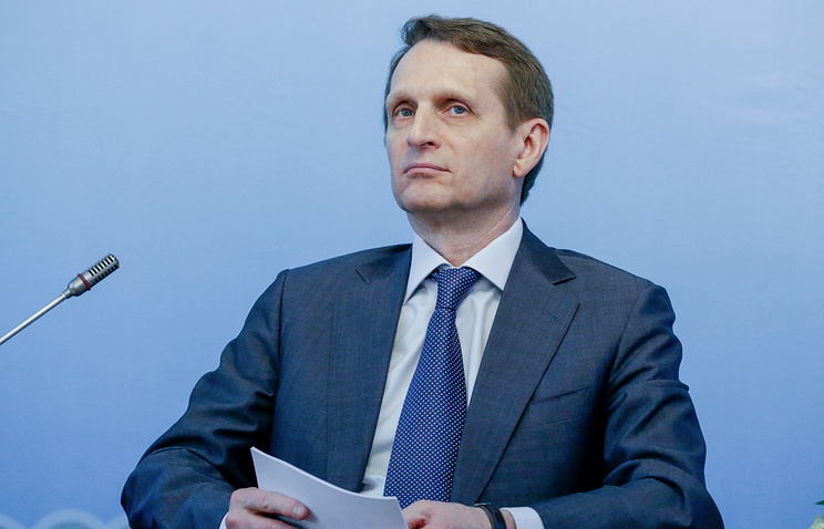 Chairman of the Russian State Duma Sergey Naryshkin