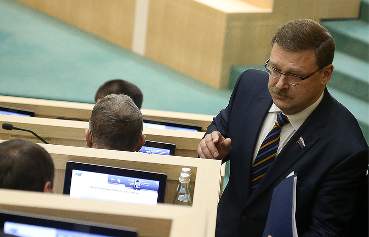 Konstantin Kosachev, the chairman of Russia's upper house's committee for international affairs