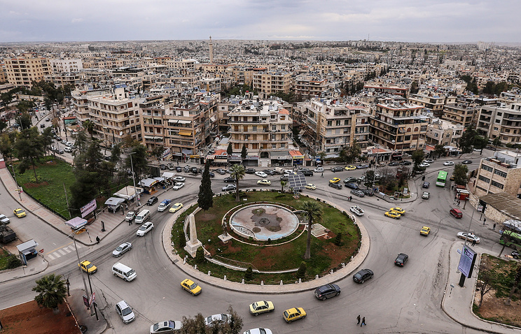 A view of the Syrian city of Aleppo