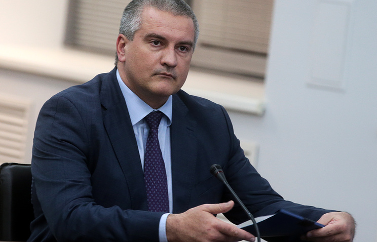 The head of the Republic of Crimea Sergey Aksyonov