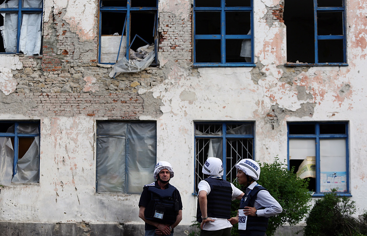 OSCE observers in Donbass