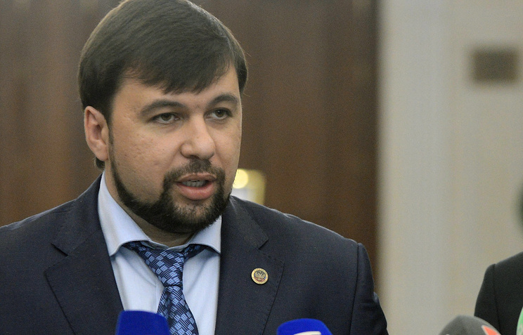 Head of the DPR delegation at the peace talks Denis Pushilin