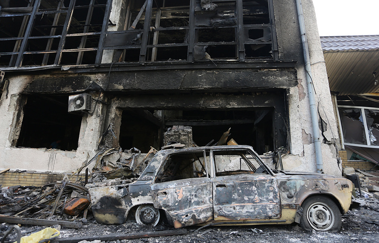 Aftermath of the shelling in Donetsk region, June 09, 2016
