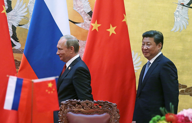 Russian President Vladimir Putin and China's leader Xi Jinping
