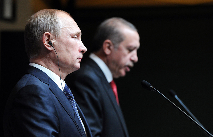 Russian and Turkish Presidents, Vladimir Putin and Tayyip Recep Erdogan, December 01, 2014