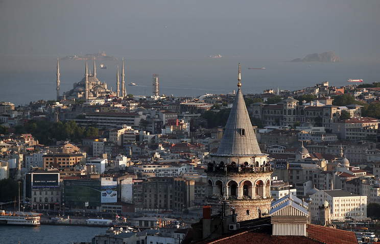 Istanbul's skyline with the Galata Tower and Sultan Ahmed Mosque