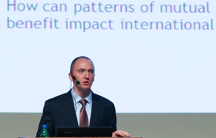 Donald Trump's foreign policy adviser Carter Page in Moscow