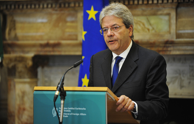 Italian Foreign Minister Paolo Gentiloni