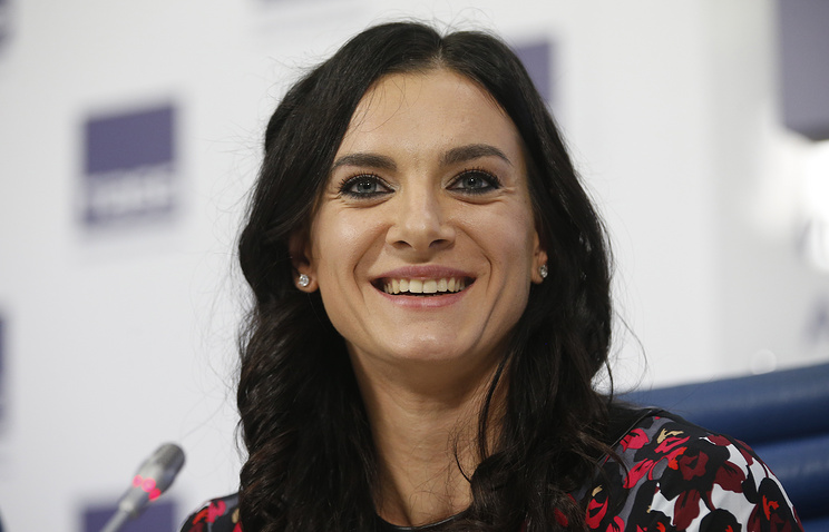 Yelena Isinbayeva, two-times Olympic pole vault champion