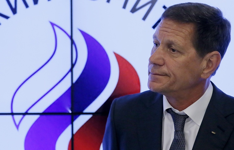 Russian Olympic Committee President Alexander Zhukov