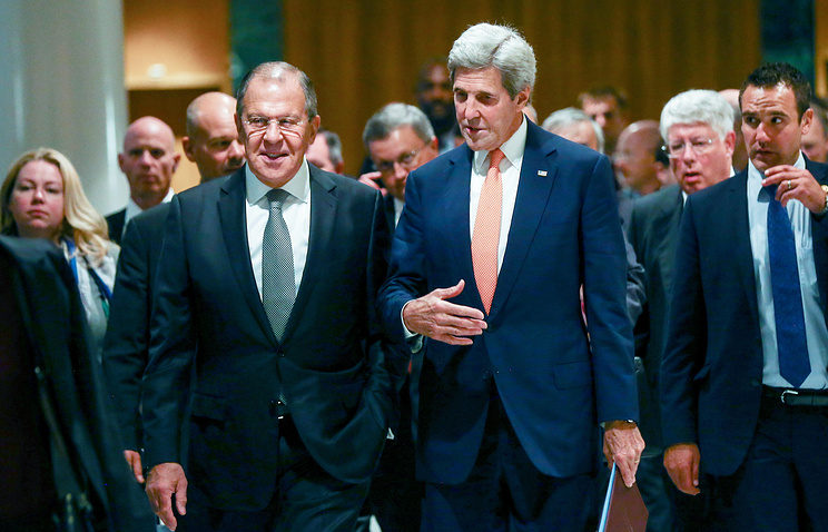 Russian Foreign Minister Sergey Lavrov and US State Secretary John Kerry