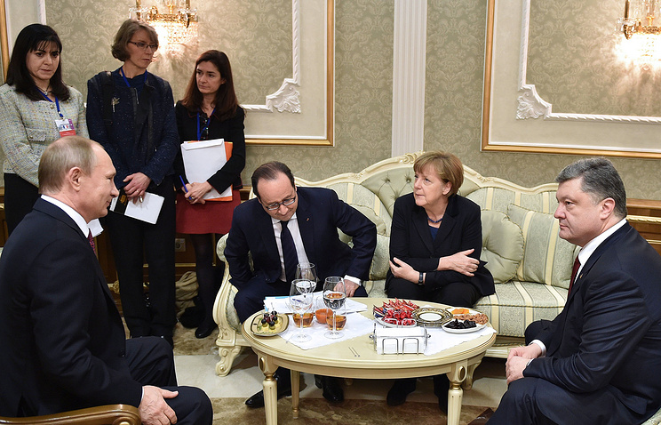 The Normandy Quartet meeting in Minsk in February 2015