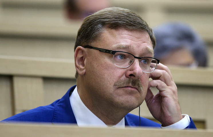 Konstantin Kosachev, chairman of the Russian Federation Council's International Affairs Committee