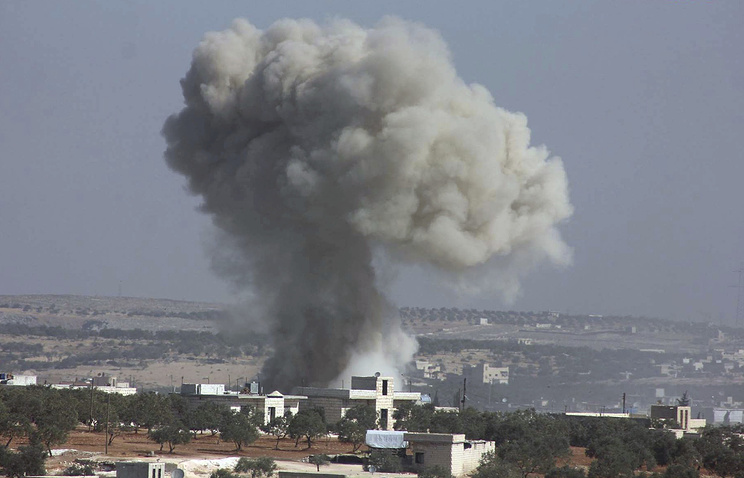 Alleged airstrike in the village of Hass on Oct. 26