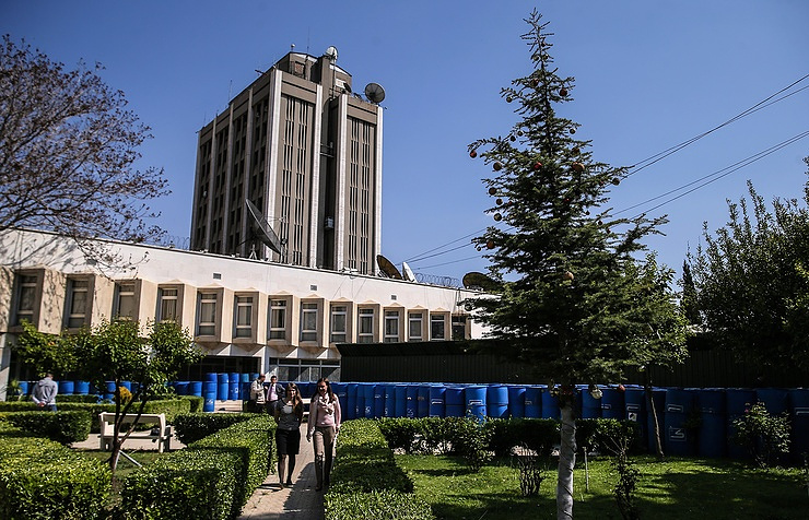 The Russian embassy in Syria