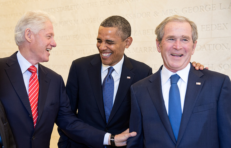 Barack Obama, Bill Clinton and George W. Bush