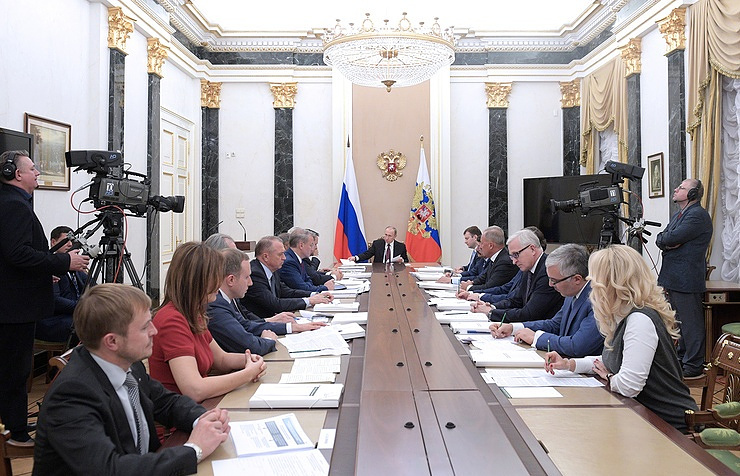 Vladimir Putin at a meeting of the Board of Trustees of the Agency for Strategic Initiatives (ASI)