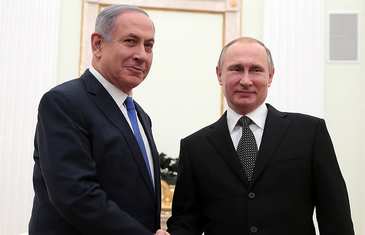 Israeli Prime Minister Benjamin Netanyahu (left) and Russian President Vladimir Putin (right)
