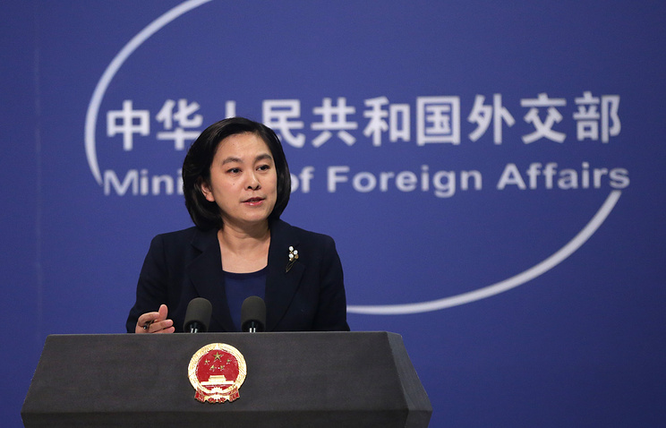 China's Foreign Ministry's Spokesperson Hua Chunying