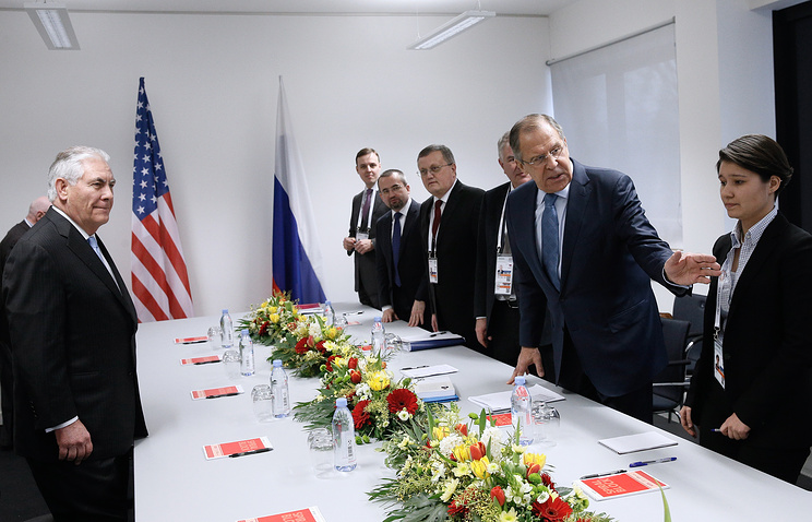 US Secretary of State Rex Tillerson and Russia's Foreign Minister Sergey Lavrov