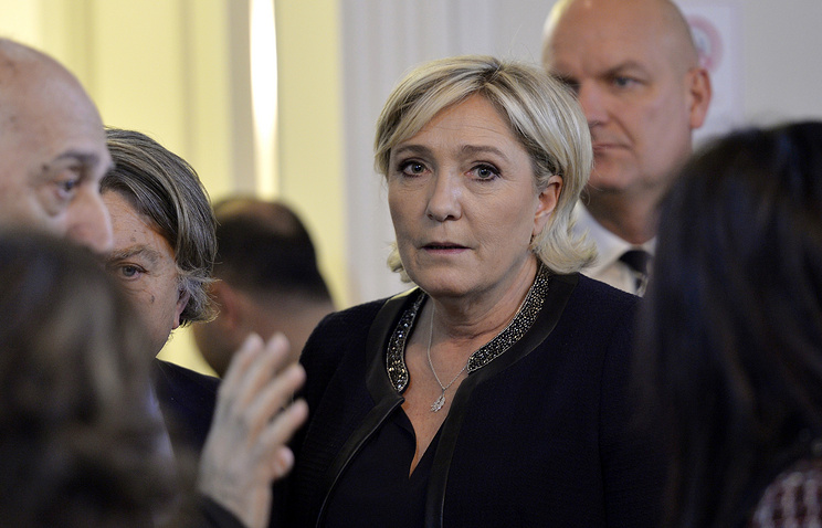 Marine Le Pen, the leader of France's far-right Front National political party