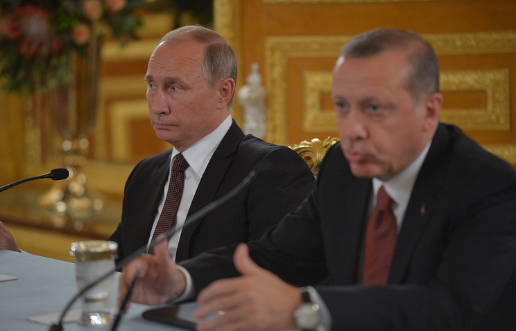 Russian and Turkish Presidents, Vladimir Putin and Recep Tayyip Erdogan, October 2016