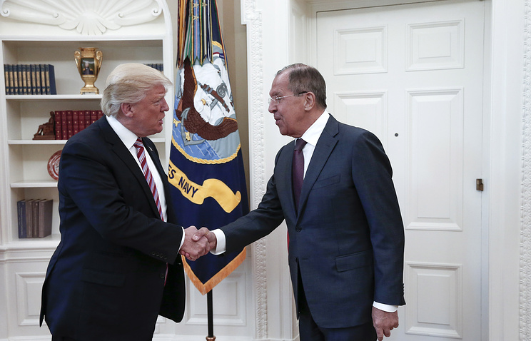US President Donald Trump and Russian Foreign Minister Sergey Lavrov
