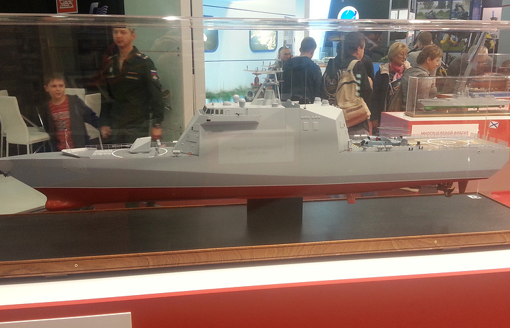 Model of the Project 20386-class corvette