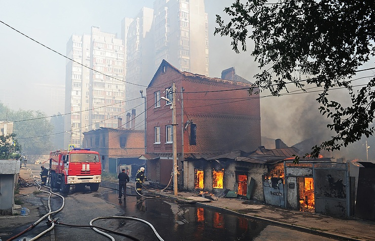 Over 80 homes burn down in Rostov-on-Don - Russian Emergencies Ministry