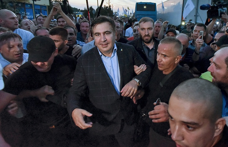 Ukraine president criticizes Saakashvili for crossing border