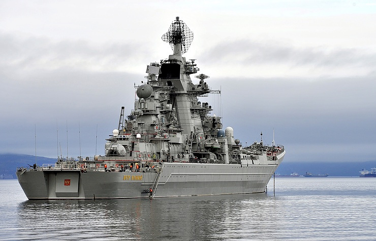 The Pyotr Veliky heavy nuclear-powered guided-missile cruiser
